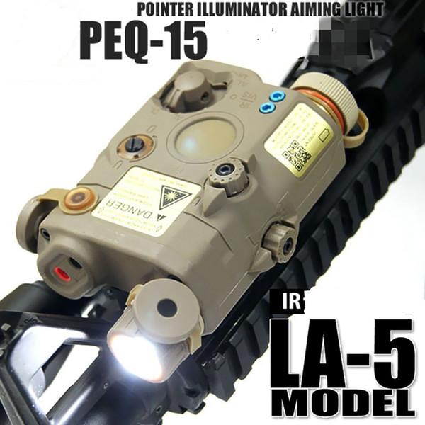 Caza LA PEQ 15 Linterna táctica Led láser Caja de batería infrarroja IR con láser rojo y ajustes IR para estándar EX276