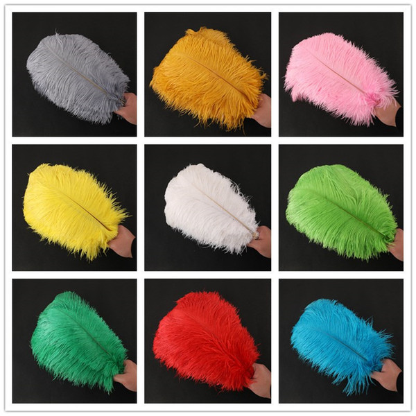 best selling 15inch (30-35cm) Diy Ostrich Feathers Plumes Craft Supplies For Wedding Centerpiece Wedding Party Event Decor Festive Decoration 14 Colours