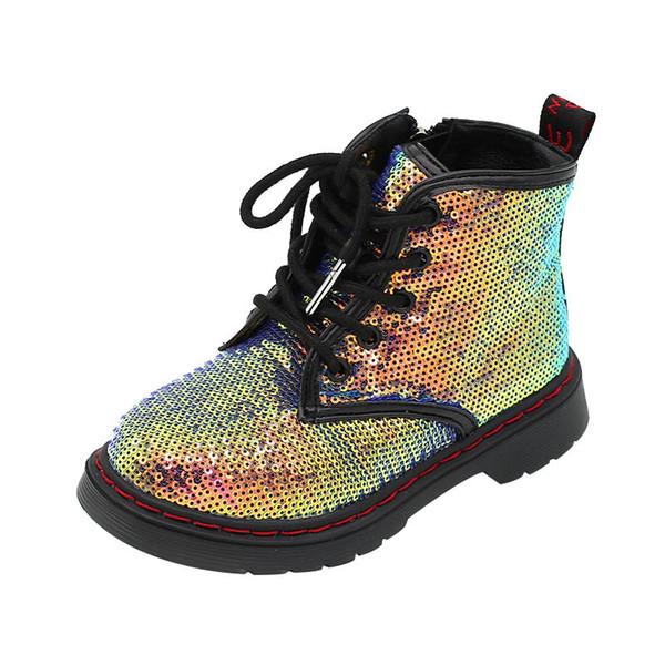 Nouveau arrivé filles sequin bottes chaussures enfants enfants chaussures filles bottes martin enfants mode chaussures enfants bottes A8203 détail