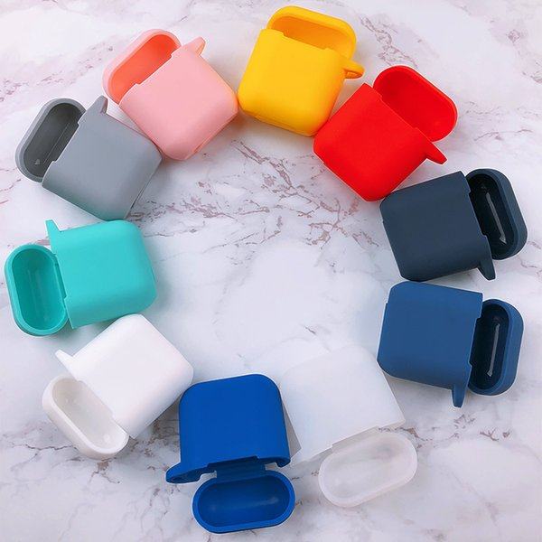 Etui de protection en silicone coloré 4 en 1 AirPods Skin Cover Compatible avec les airpods de pomme Charging pods air Cases