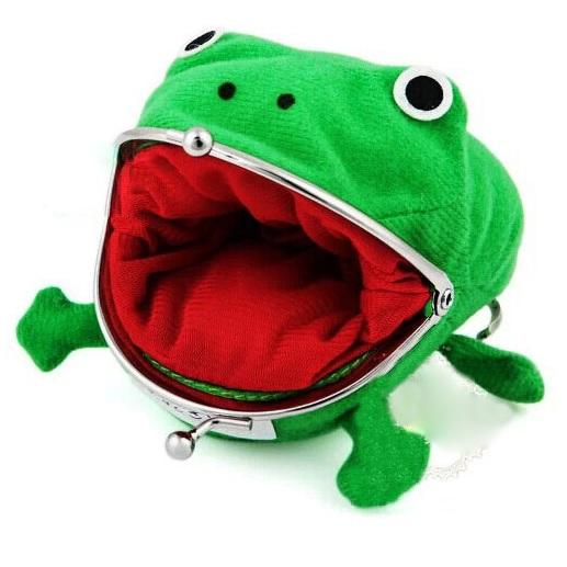 Hot Selling Frog Wallet Anime Cartoon Wallet Coin Purse Manga Flannel Wallet Cute purse Naruto Coin holder