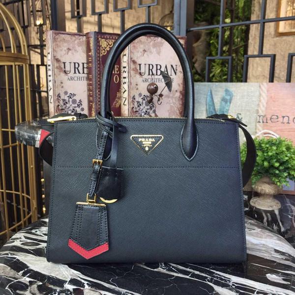 2020 fashion men's and women's leather bag, single shoulder bag, double shoulder bag, Christmas gift model: 1ba102-1 size: 30-23-1