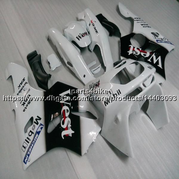 23colors 5Gifts weiß schwarz Motorrad Verkleidung für KAWASAKI ZX6R 1994 1995 1996 1997 ABS Plastic Bodywork Set