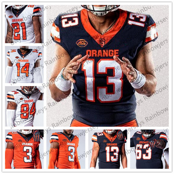 outlet store 4284f 6be67 2019 Custom Syracuse Orange 2019 New Football Jersey Any Name Number 2 Eric  Dungey 13 Tommy DeVito 23 Abdul Adams 88 John Mackey From Newlife20161001,  ...