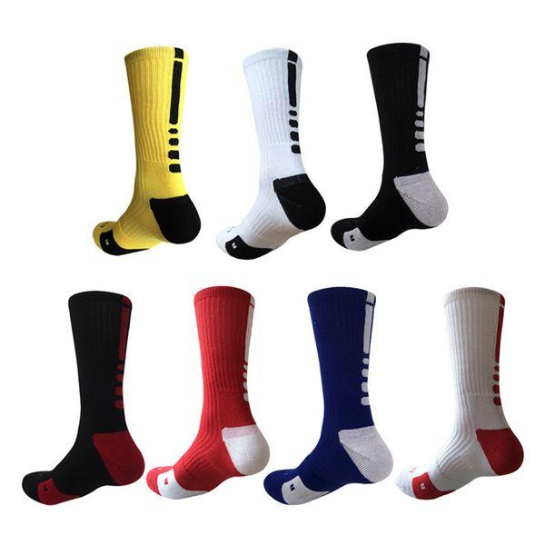 top popular USA Professional Elite Basketball Socks Mens Long Knee Athletic Sport Socks Fashion Walking Running Tennis Compression Thermal Sock 2021