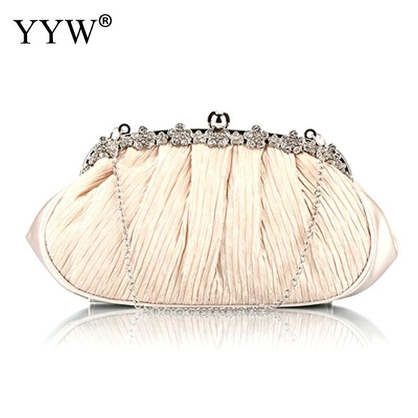 Pearls Beaded Evening Bag Sequin Elegant Handmade Day Clutch Hot Ivory White Evening Clutch Bag Full Dress Purse And Handbag #564451