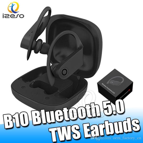 B10 Bluetooth 5.0 auriculares del gancho del oído en la oreja los auriculares estéreo real inalámbrica manos libres portátil Auriculares Sport TWS Con menor izeso Embalaje