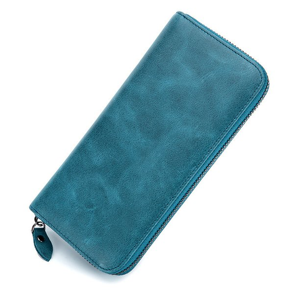 Charm2019 Ma'am Long Fund Genuine Leather Cowhide Hand Take Package Man Zipper Concise Wallet
