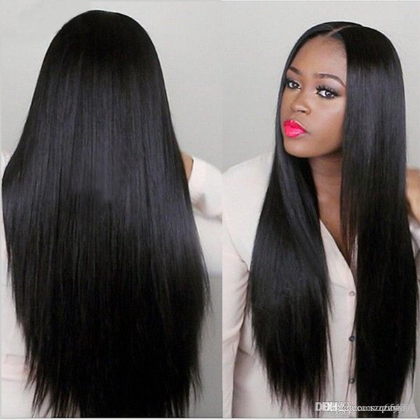 Парик дамы длинные прямые волосы в челке высокотемпературные наборы химических волокон шелка волос