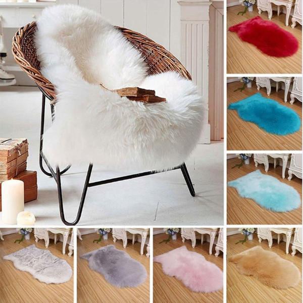 60 40 2 Cm Artificial Sheepskin Rug Imitation Wool Carpet Household Bedroom Comfortable Skin Fur Plain Fluffy Area Rugs Remnant Carpet Buy Carpet