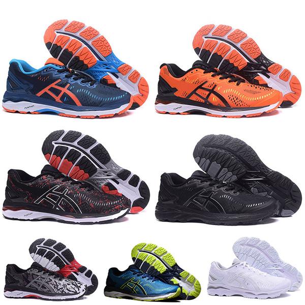 Gel asics Shoes Sınırı İndirimler Satış Gel-Kayano 23 T646N Koşu Ayakkabıları erkekler kadınlar için Üçlü Siyah Turuncu Gri Yeşil Mavi Beyaz Tasarımcı Eğitmenler Sneakers