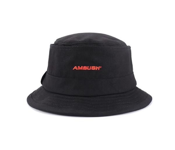 AMBUSH black Embroidered alphabet fisherman hat