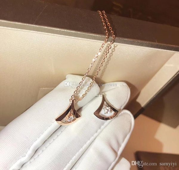 Wholesale Ladies Necklace Womens Jewelry Luxurieslady 925 Silver Italy BV  Collana Pendants Gold Chain Pendentif Ladies Collier Femme Original Box Cat