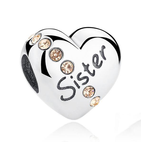 50pcs Argent Antique AMOUR cœur PERLES loose Charms for European Bracelet Bijoux