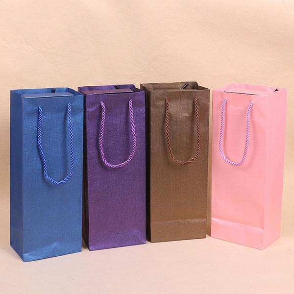 Bolsa de papel de embalaje de flores frescas Bolsa de regalo rectangular portátil 33 * 12.5 * 9 CM 4 colores envío gratis WB312