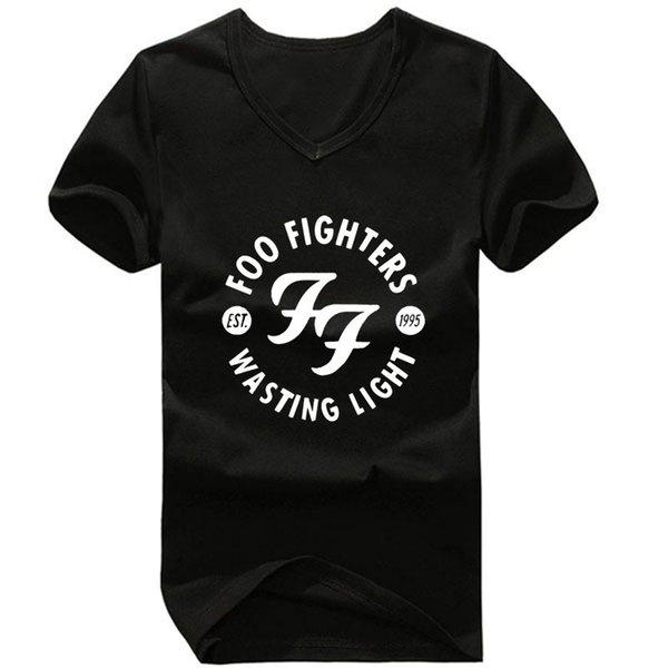 Foo Fighters Hommes Designer D'été Tshirts Ras Du Cou À Manches Courtes Homme Vêtements Rock Roll Style Mode Casual Apparel