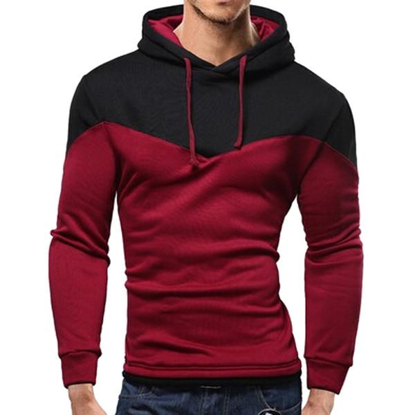 men hoodies 2018 autumn brand male long sleeve patchwork sweatshirt men sky blue black big size moletom