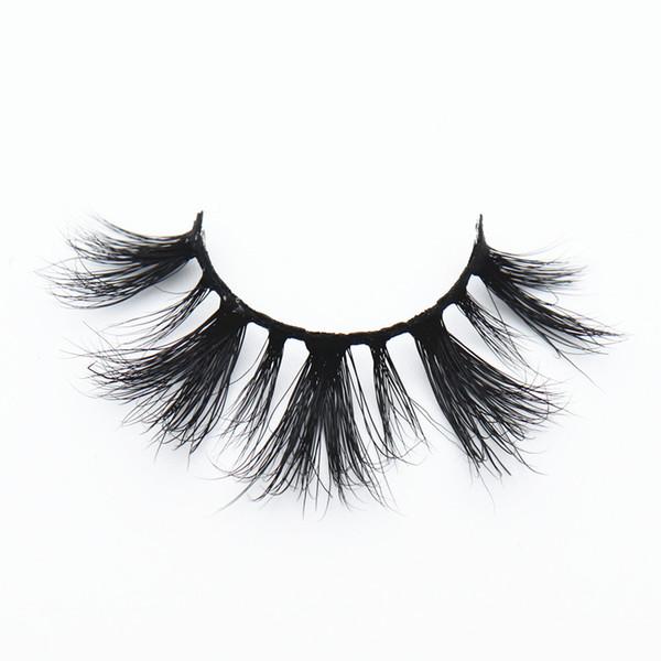 KNG-44 KNG-45 3D mink eyelashes dramatic black cotton band 5D mink strip lashes hot sale false eyelashes