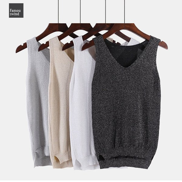100% Cotton Lurex Women Tank Top 2019 Spring Summer Sexy Camis Ladies Camisole Shinning Sleeveless Halter Top Club Shirt