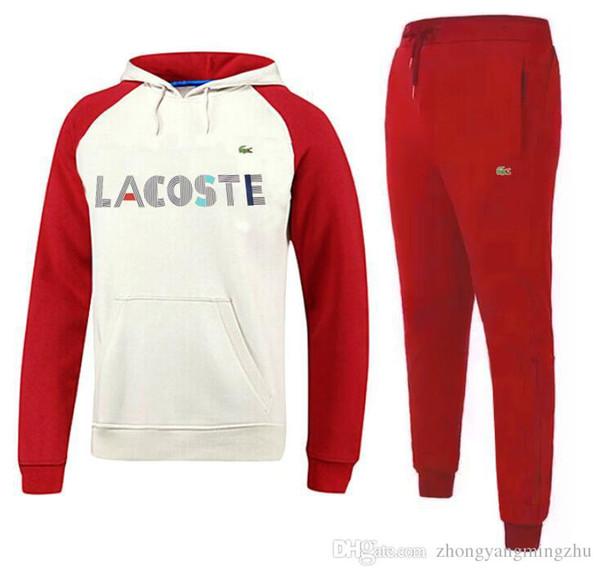 Men's tracksuit men sport suit white cheap men sweatshirt and pant suit hoodie and pant set sweatsuit men
