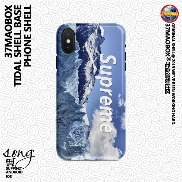 New Europe and United States tide brand snow mountain sup joint north apple x mobile phone shell 8 / 7 / 6p frosted hard shell