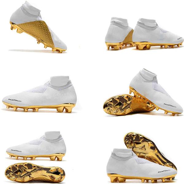 New color Mens Soccer Cleats Phantom VSN Elite DF FG Outdoor Soccer Shoes x EA Sports Phantom Vision Football Boots Size 39-45
