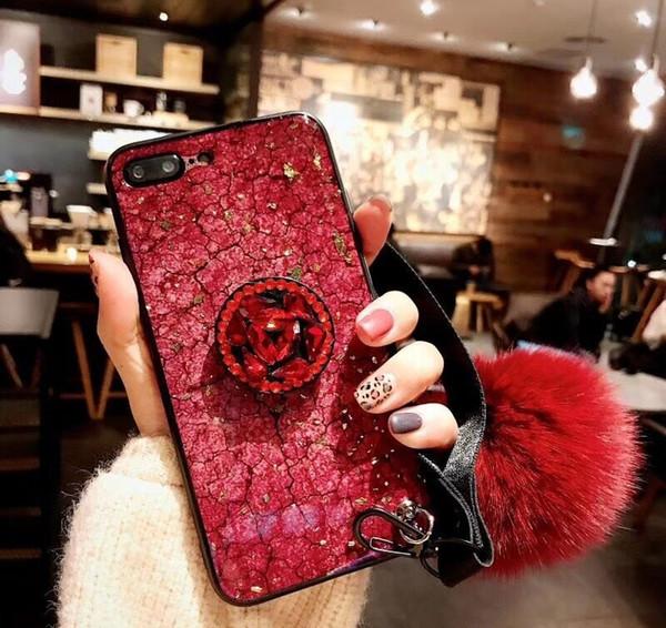 iPhone XR Handy Shell weiblich für iphone6 7 8Plus Haarkugel Strass max Marmorkleber Kunststoff splitterfest Shell