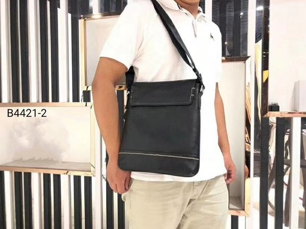 2019 new high quality classic Designer mens handbags Cowhide tote leather clutch shoulder bags men purse with wallet B44221-2