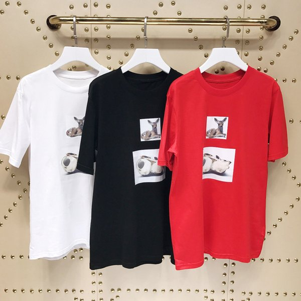 2019 designer de moda Top Te T-shirt de mangas curtas casuais novas prateleiras T-shirt novo da forma dos homens das mulheres, carta marca marca maré f