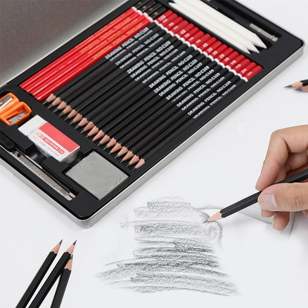 30pcs Sketch Pencil Set Professional Sketching Drawing Pencils School Students Art Supplies