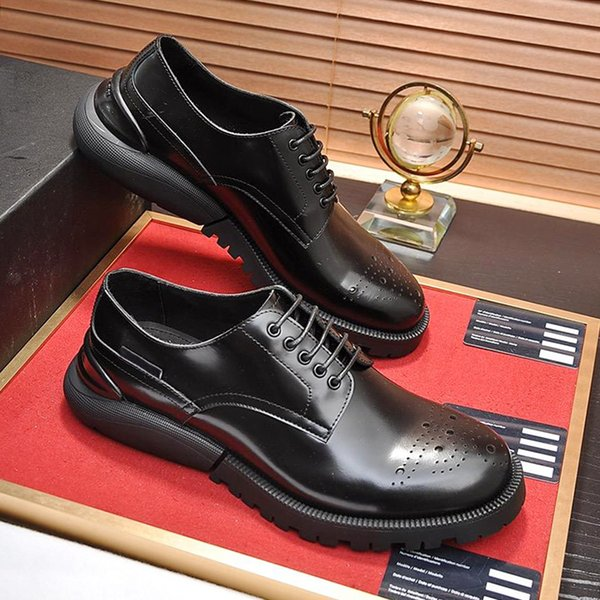 Größe Breathable Männer Herbst Leder Luxus Entwerfen Marken Spitz Herren Formal Herren Und Großhandel Derby Derby Schuhe Schuhe Winter Plus Sale n0wOXP8k