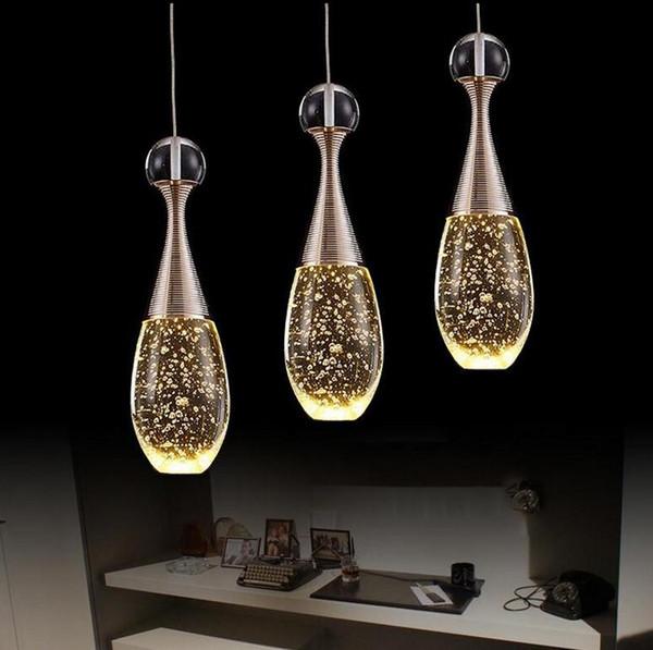 Moderne kurze led restaurant lichter blase lustre kristall pendelleuchte bar arbeitstisch wohnzimmer kronleuchter lichter leuchte lampen