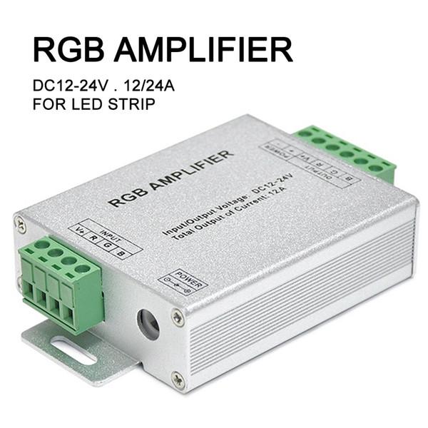 LED Controller RGB Amplifier Signal Amp Repeater for LED Strip Light DC12V