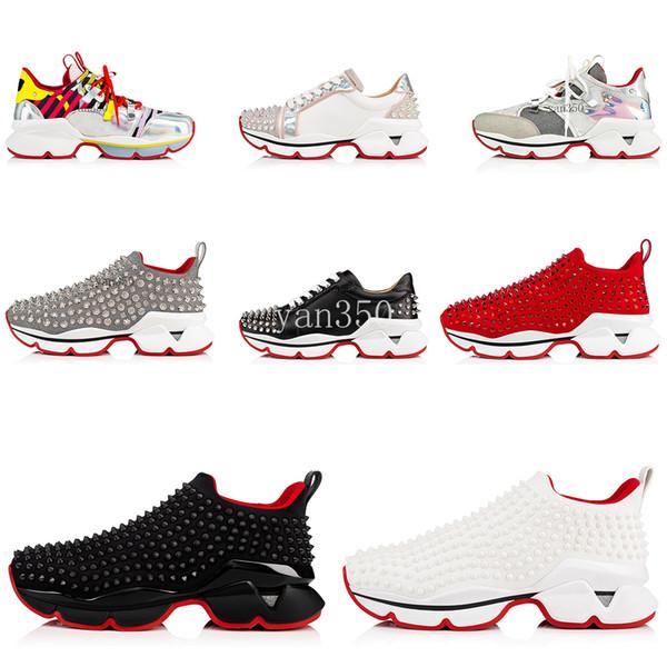 Adidas Fashion Luxury Red Bottom Uomo Donna Fondo rosso Suola Sneakers scarpe firmate High Top con borchie Spikes Scarpe con strass Sneaker delle scarpe