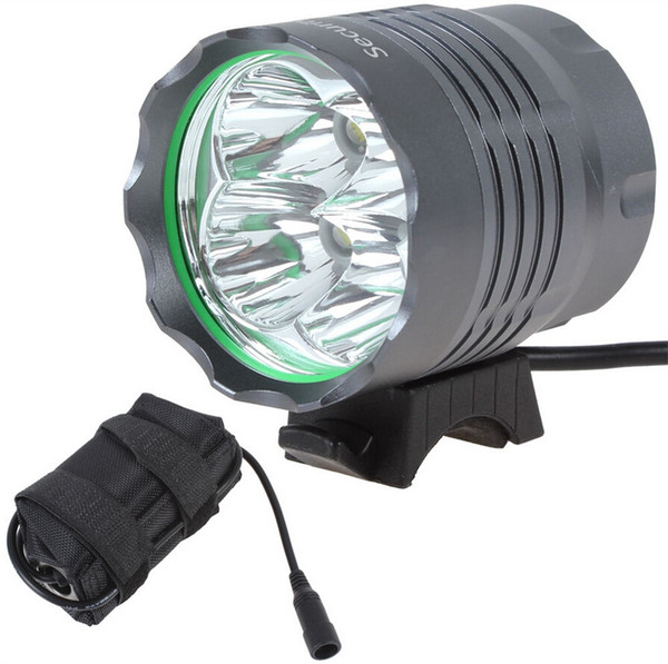 Sales NEW SecurityIng 4800Lm 4X XML T6 LED Bicycle Bike Light + 6400mAh Rechargeable Battery Pack, 3 Switch Mode, Free Shipping #148394