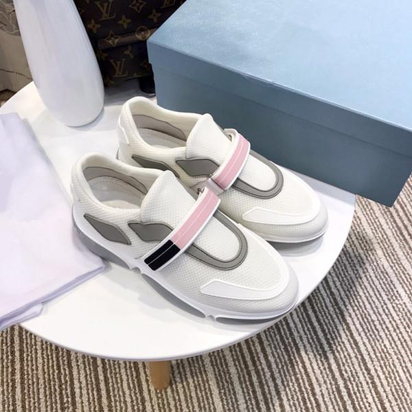 Diseñador de lujo 2019 zapatos casuales baratos mejor de alta calidad para mujer zapatillas de deporte de moda zapatos de boda de terciopelo zapatillas deportivas rx19011702