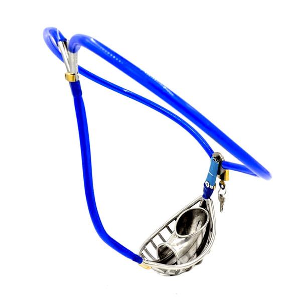 Invisible mâle réglable fil d'acier inoxydable ceinture dispositif de ceinture de chasteté ventiler Scrotum Groove Cock Pénis Cage Plug Anal Adulte Bondage Sex Toy