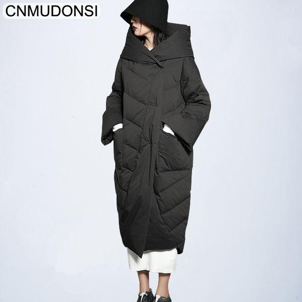 Winter Parka Women Elegant Coat Female Winter Jacket Plus Size Hooded Ukraine Clothes Brand Warm Long Large Down Cotton Parkas L Y190828