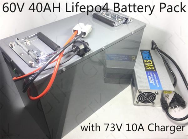 Литиевая 60V 40AH батарея lifepo4 40ah Bateria BMS 80A 3000 Вт для электрического мотоцикла велосипед E трицикл Tutuk Touring автомобиль караван