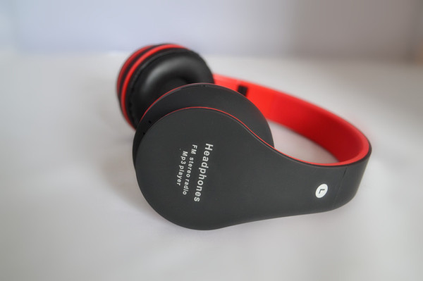 High quality Wireless Bluetooth Stereo Headphones FM stereo radio Mp3 player Support Micro SD Card With Mic Foldable Headband Headphone