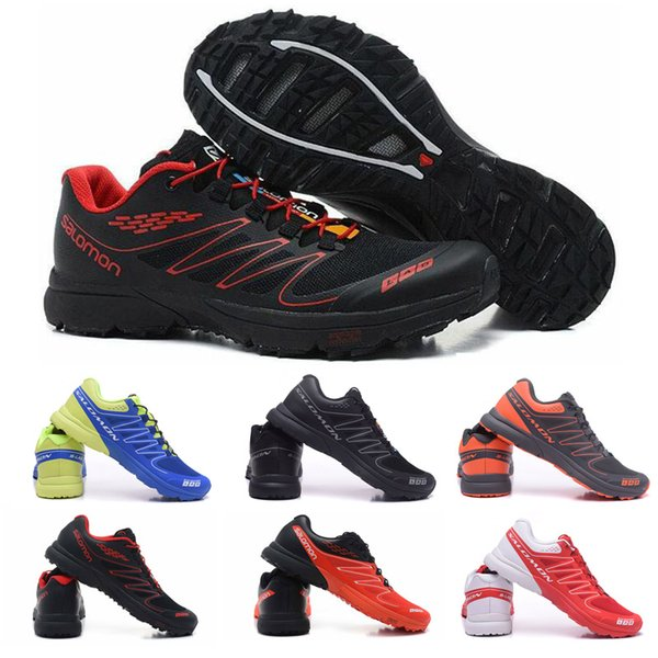 2019 Designer Salomon S Lab Sense M Running Sneakers Mens Shoes New Fashion Athletic Running Sports Outdoor Hiking Shoes Size 40 46 From
