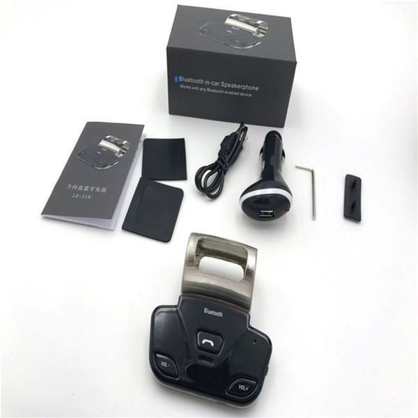 Araba Kablosuz Bluetooth V3.0 HandsFree Hoparlör Senkronize Çift Telefonları Bağlantısını Destekleme Senkron Direksiyon Üzerine Yüklemek