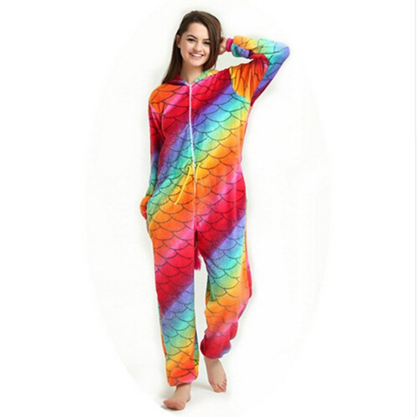 New 2019 Onesie Animal Kigurumi Unicorn Onesies Adult Women Pajamas Hooded Sleepwear Flannel Panda Pikachu Woman Sleepwear