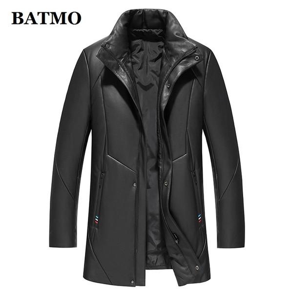 novo inverno chegada BATMO alta qualidade 95% de pato branco para baixo jaquetas homens, espessado casaco de couro real do mne, 9022