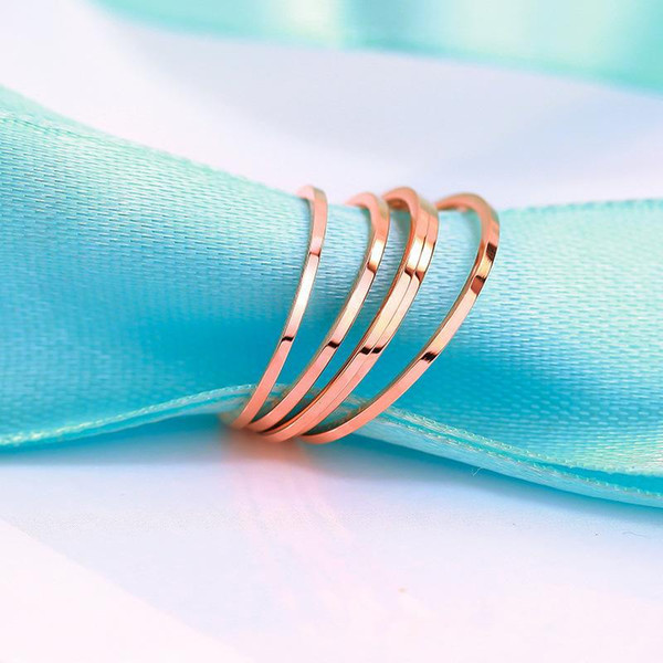 Couple titanium steel rings simulation smooth ring European and American fashion Solid color ring For girls boys toys accessories