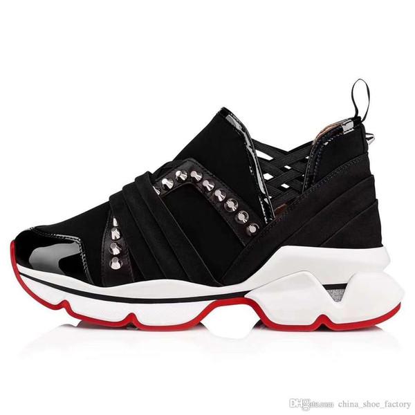 Calzado de hombre con fondo rojo Zapatillas Spike, suela roja con calcetines planos, botas Donna multicolor para Mujeres Hombres
