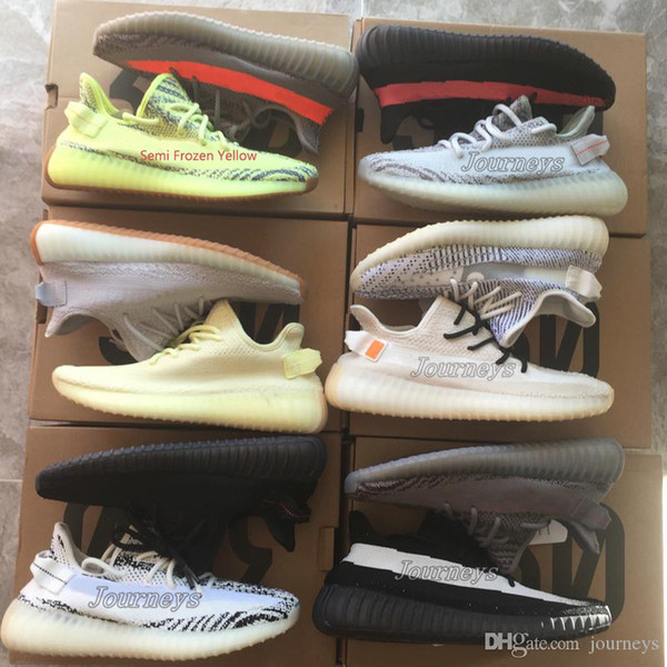 2020 Best Quality 350 V2 Men Shoes With Box Sesame Static Butter Men Running Shoes Cream White 2019 Women Sport Designer Sneakers From Journeys,
