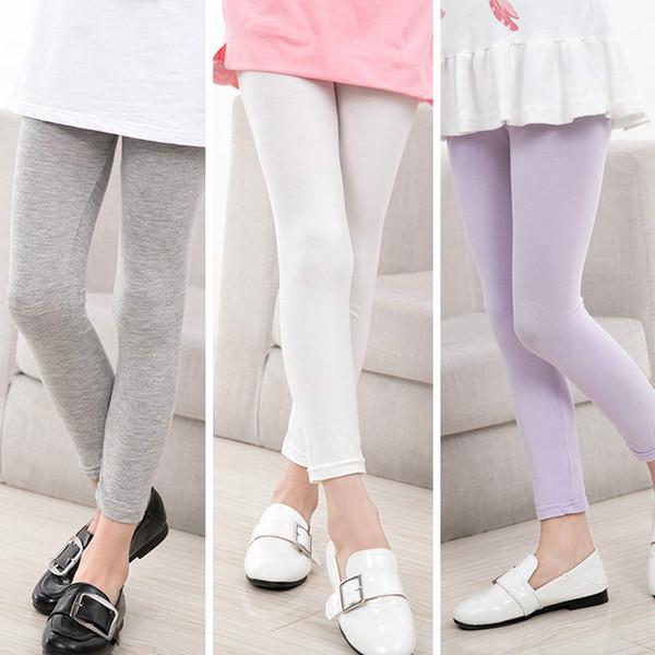 Vendita al dettaglio a buon mercato alta Bambini ragazze designer leggings in cotone leggings yoga pantaloni della tuta pantaloni della tuta mutandine pantaloni attillati Abbigliamento boutique per bambini