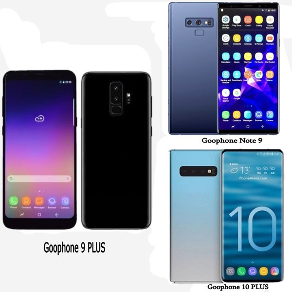 Free DHL Goophone S10 plus Note 9 Unlocked Smartphones Android 8.1 octa core 4G RAM 128G Shown 4G LTE 6.4inch Cell phones Sealed box