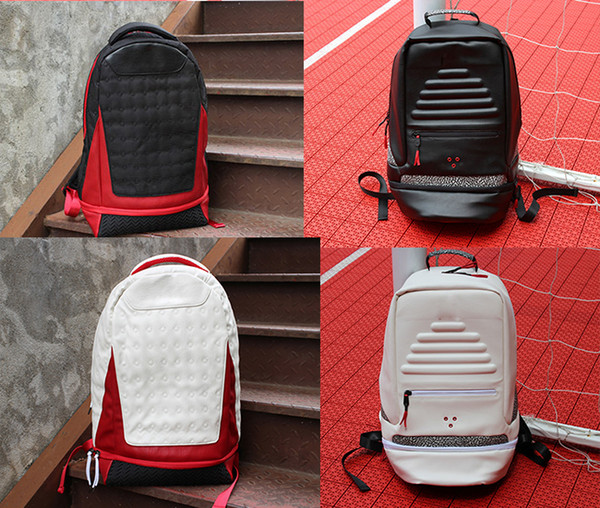 top popular 2019 Brand Backpack leather Jumpman 13 Designer bag backpack Mens Womens Teenager Black red yellow Blue Outdoor Basketball Backpack 6 Colour 2019